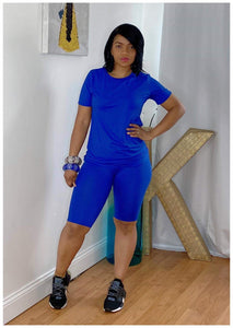 """ROYAL BLUE"" 2 Piece Biker Set"