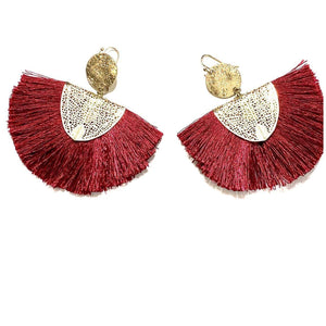 FANCY FRINGE FAN Earrings