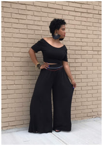 """UNBOTHERED"" 2 piece Wide Leg set"