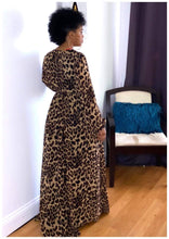 "Load image into Gallery viewer, ""WALK ON THE WILD SIDE"" Cheetah Maxi Dress"