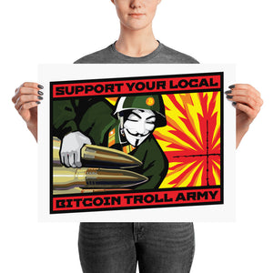 BITCOIN TROLL ARMY - Poster