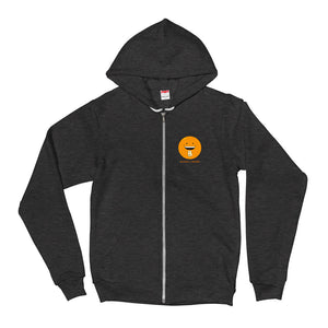 "Bitcoin & Friends ""Smile"" - Fleece Zip Hoodie"