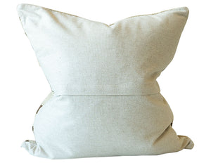 Textured Brown Stripe Pillow