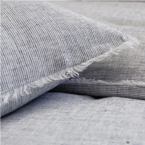 Heathered Navy King Sham
