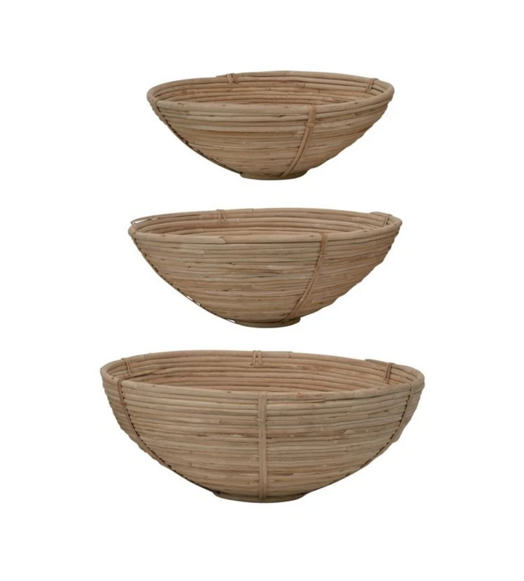 Hand Woven Cane Bowl Set