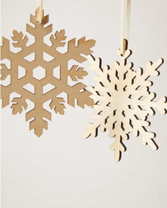 Snowflake Ornament - Set of 4