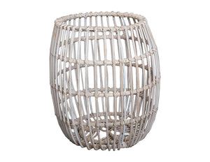 Woven White Washed Basket