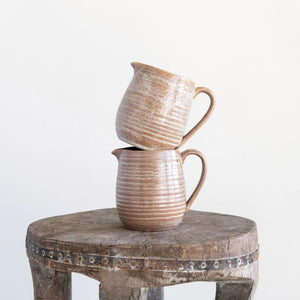 Reactive Glaze Stoneware Pitcher