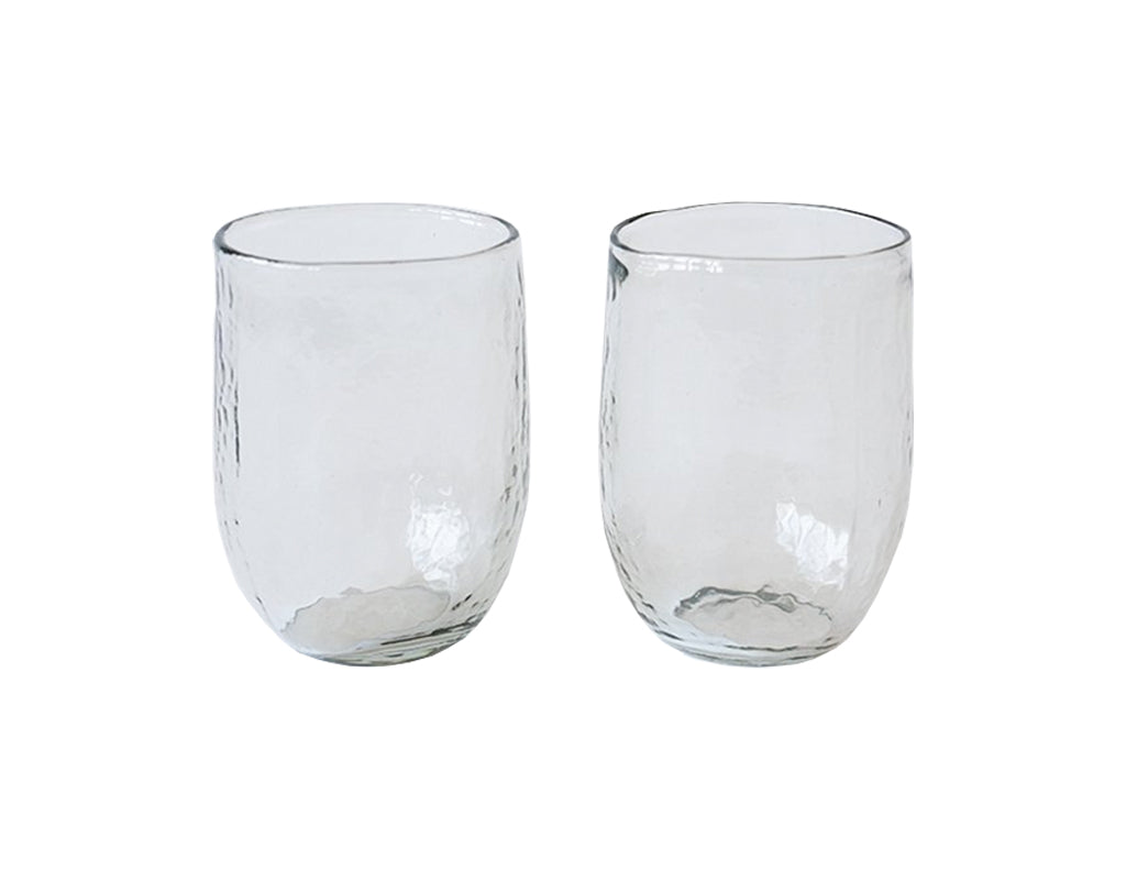 Medium Hand Blown Glasses - Set of Two