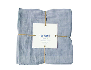 Chambray Linen Napkin - Set of Four