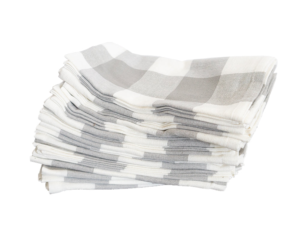 Grey Buffalo Check Napkins