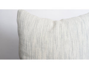 Grey & White Textured Linen Pillow