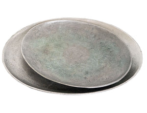 Oxidized Metal Tray Set
