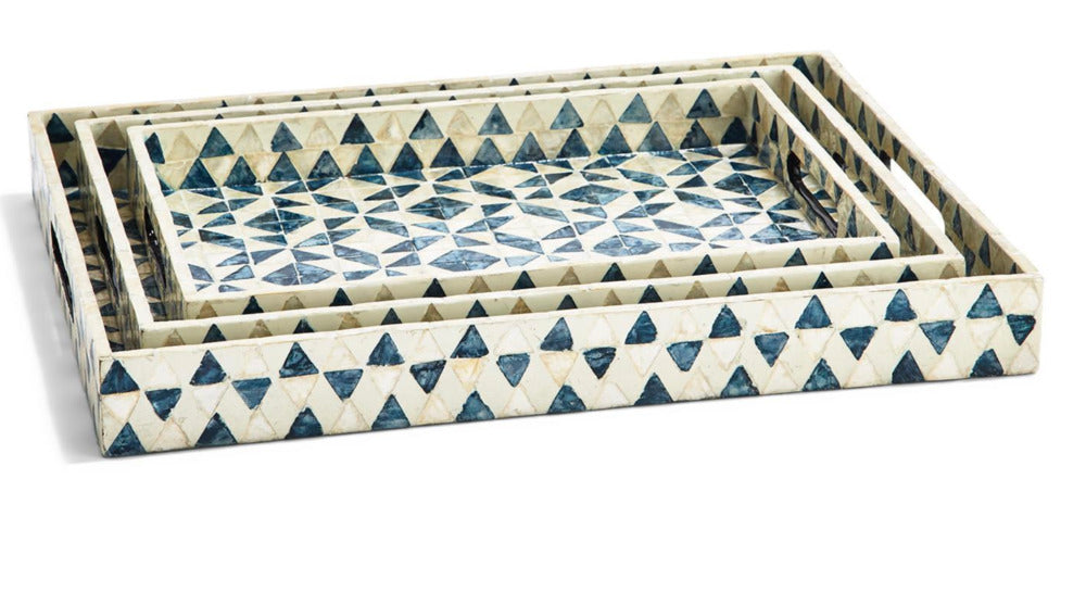 Geometric Gallery Tray Set