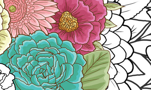 Printable Coloring Books:  Flowers, Nudes & Zombies