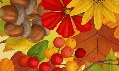 Autumn Foliage: Wreaths & Leaves New Set