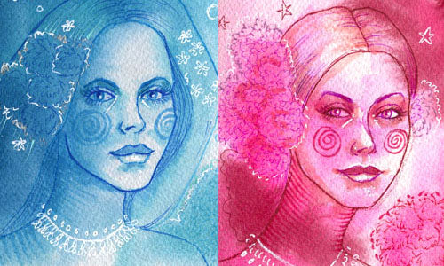 Tutorial: 10 Minute Intuitive Watercolor Portraits
