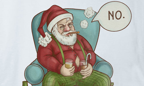 Naughty Santa Graphics - Just Say NO