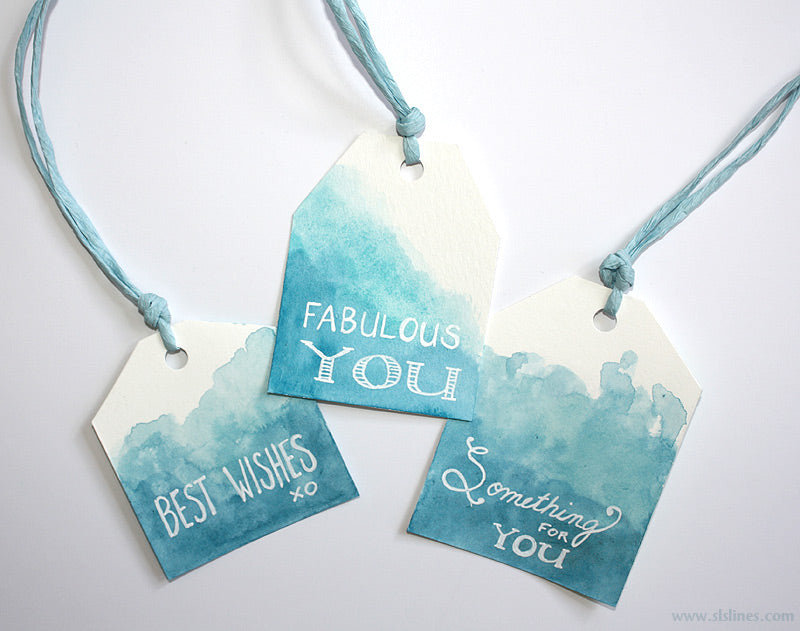 Tutorial: Create your own watercolor gift tags