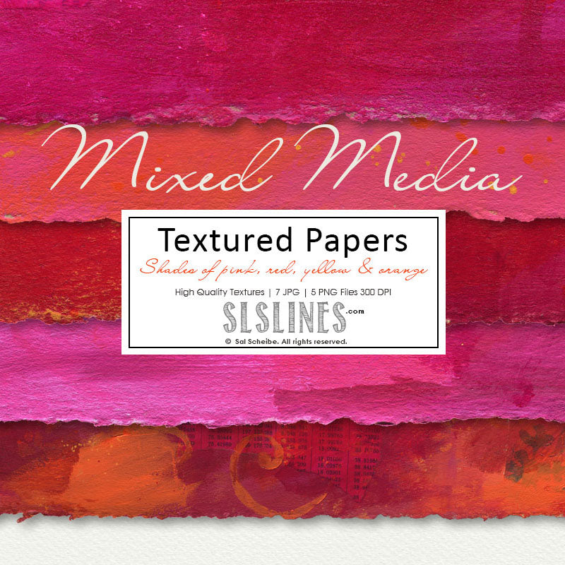 Mixed Media Pink Papers