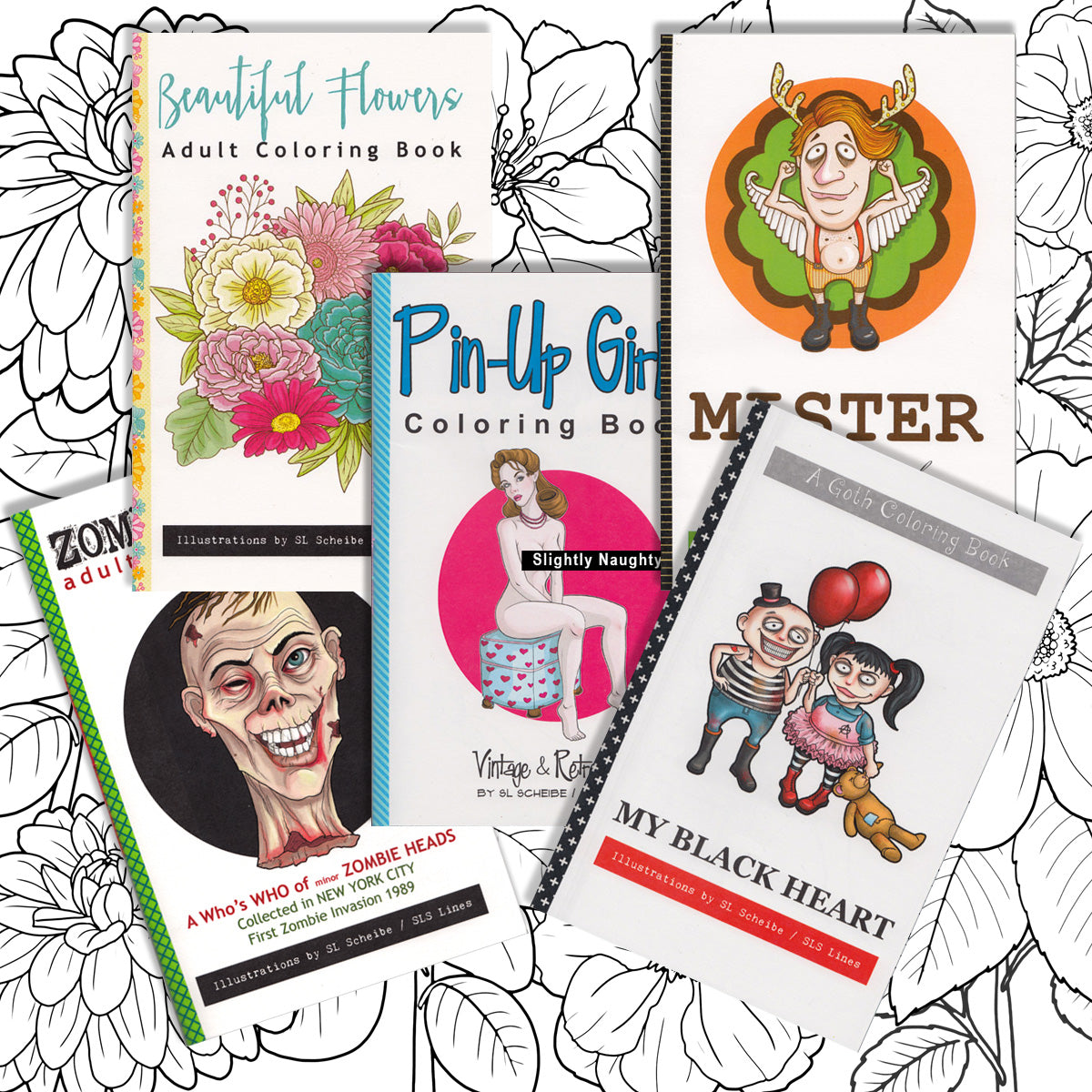 - Printable Coloring Books: Flowers, Nudes & Zombies – Sal Scheibe