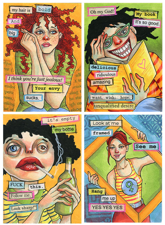 Found Poetry Artist Trading Cards