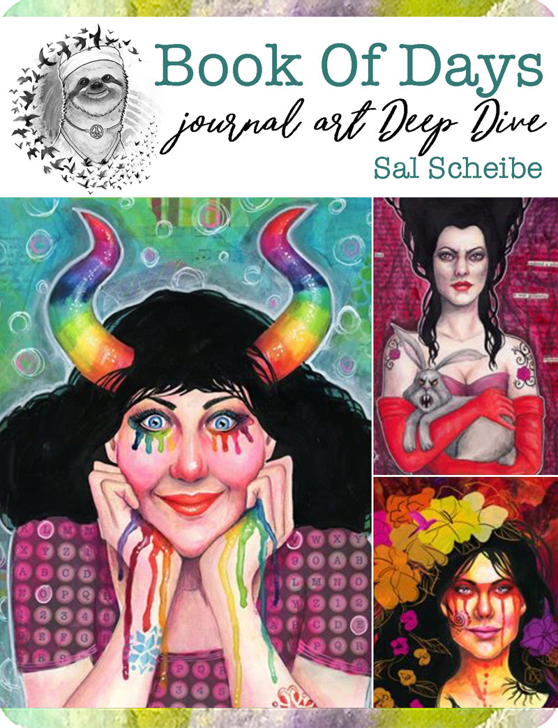 Book of Days online workshop for art journaling