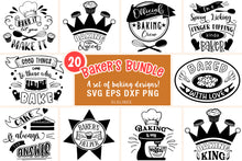 Load image into Gallery viewer, Baking Bundle SVG - Designs for Bakers PNG