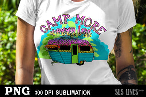 Camping Sublimation BUNDLE - 10 Campsite & RV Designs