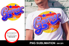Load image into Gallery viewer, Gamer Retro Style Sublimation Design PNG - Vintage Wear