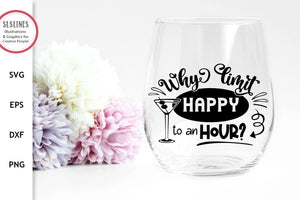 Happy Hour SVG - Funny Drinking Designs