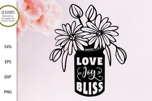 Love Joy & Bliss SVG - Happiness Designs