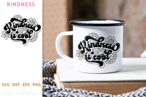 Retro Kindness is Cool SVG - Inspirational Cut File