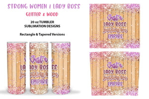 Skinny Tumbler Sublimation Design - Feminism PNG
