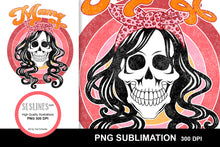Load image into Gallery viewer, Mama Skull Sublimation Design PNG - Distressed