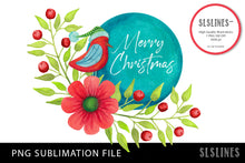 Load image into Gallery viewer, Merry Christmas Bird PNG sublimation