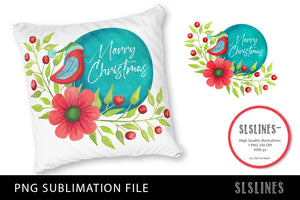 Merry Christmas Bird PNG sublimation