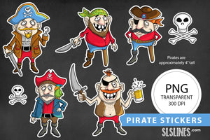 Printable Stickers: ARRRR Matey! Pirate Stickers