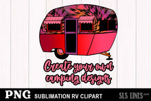 Load image into Gallery viewer, RV Camper Sublimation Clipart BUNDLE