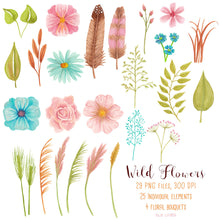 Load image into Gallery viewer, Wild Meadow Flowers Watercolor Set - slslines