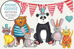 Animal Friends Party & Celebration Clipart
