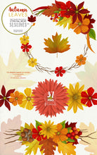 Load image into Gallery viewer, Autumn Leaves Fall Foliage Watercolor Clipart