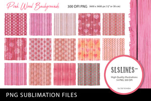 Pink Wood Texture Backgrounds PNG sublimation