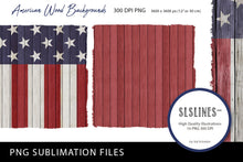 Load image into Gallery viewer, American Wood Patriotic Backgrounds PNG sublimation USA