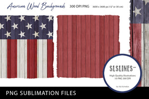 American Wood Patriotic Backgrounds PNG sublimation USA