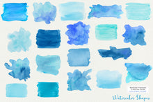 Load image into Gallery viewer, Watercolor Shapes Big Bundle Balls Boxes & Splatters