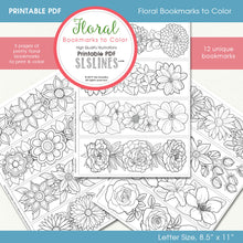 Load image into Gallery viewer, printable PDF bookmarks for adult coloring