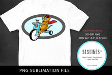 Load image into Gallery viewer, Cat & Mouse Bike Design PNG sublimation