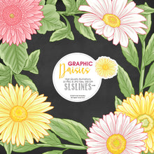 Load image into Gallery viewer, Daisy Graphic Set in Pink, White & Yellow