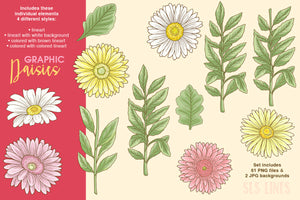 Daisy Graphic Set